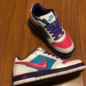 Nike pink blue purple pearly white